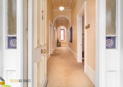 Entryway for the Bayview. A victorian era house for relocation