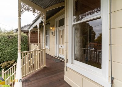 View from the verandah looking towards the entry from the bay window